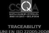 Traceability UNI EN 22005:2008