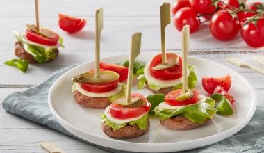 Mini burger bitescon verdurine estive
